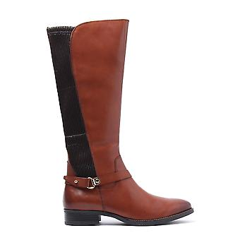 Women's Stretch Nappa Tall Boots - Cognac Leather