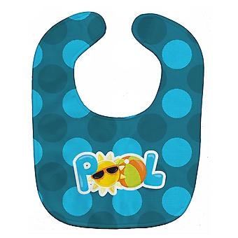 Carolines Treasures  BB8995BIB Summer Pool Baby Bib
