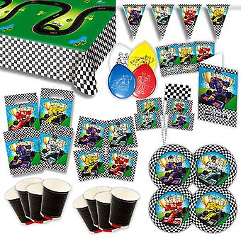 Go kart formula of one party set XL 78-teilig for 8 guests birthday decoration Kit