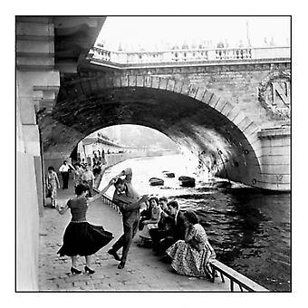 Rock n Roll sur les Quais de Paris Poster Print by Paul Almasy (11 x 11)
