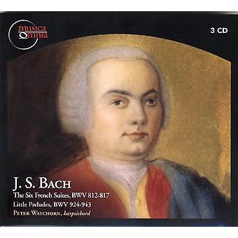 Bach, J.S./Watchorn - J.S. Bach: Seks franske Suites Bwv 812-817; Lille Præludier [CD] USA importerer