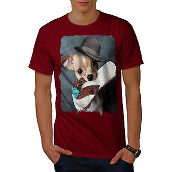 Puppy Cute Pet Funny Men RedT-shirt | Wellcoda