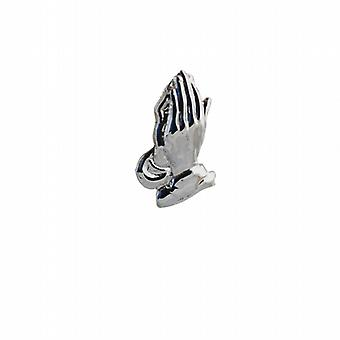 Silver 19x11mm Praying Hands Pendant