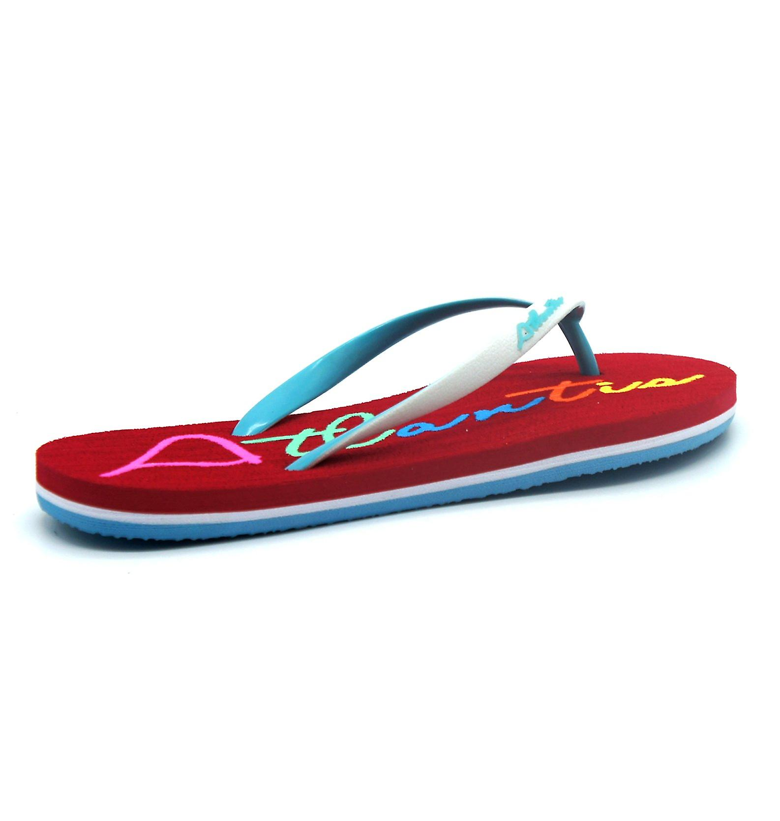 Big Supportive Flip Comfortable Cushioned Shoes Atlantis Flops Sandals Red Women Logo Ux6ACR