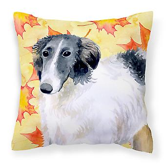 Carolines Treasures  BB9933PW1818 Borzoi Fall Fabric Decorative Pillow
