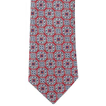 Michelsons of London Bold Medallion Polyester Tie - Red