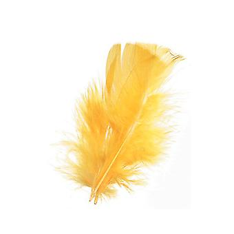 14g Yellow Craft Feathers | Scrapbooking Card Making Embellishments