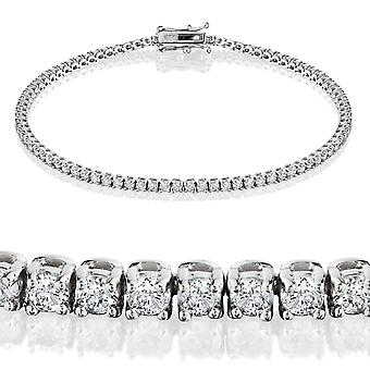 2 karaat diamant Tennis Bracelet 18K White Gold 7