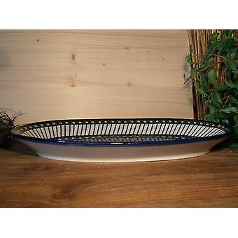 Plate, oval, 45.5 x 27 cm, tradition 1 - boleslawiec aardewerk - BSN 0284