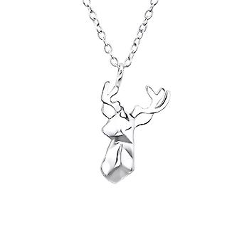 Origami Deer - 925 Sterling Silver Plain Necklaces