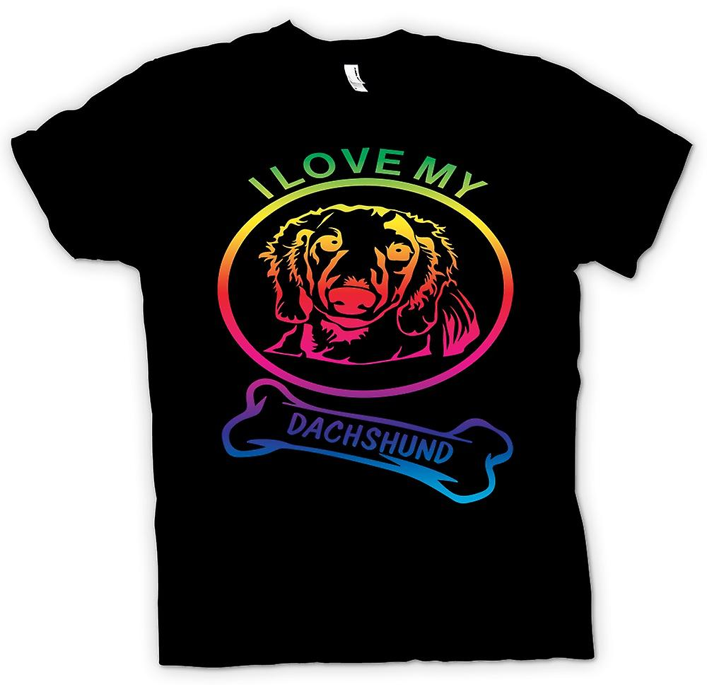 Mens T-shirt - I Love My Dachshund - Pet Dog