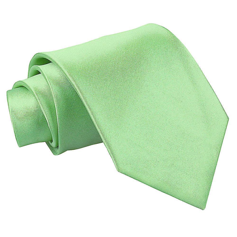 Lime Green Plain Satin Extra Long Tie