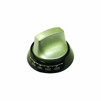 Indesit Aluminium and Black Main Oven Control Knob