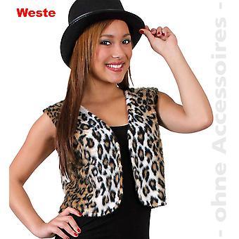 Leopard Damen Kostüm Wild Cat Raubtier Katzen Weste Damenkostüm