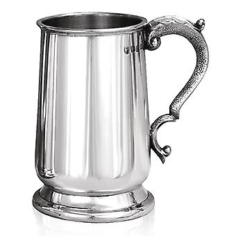 Jacobean Heavy Gauge Pewter Tankard - 1 Pint +