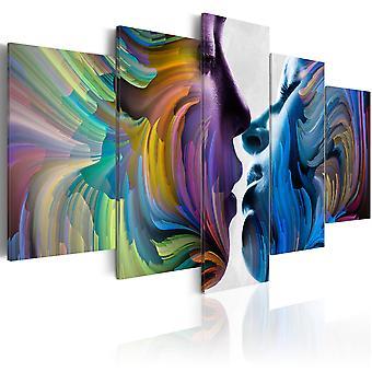 Impresión de lona - beso de colores