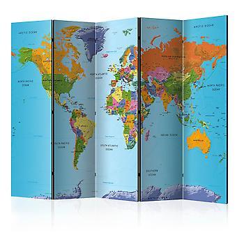 Skærmvæg - Colourful Geography [Room Dividers]