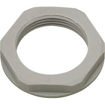Locknut with flange PG16 Polyamide Silver-grey (RAL 7001) Helukabel KMK-PA 94254 1 pc(s)
