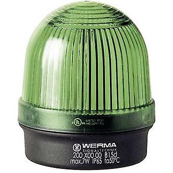Leichte Werma Signaltechnik 200.200.00 Non-Stop-grüne Lichtsignal 12 V AC, 12 Vdc, 24 VAC, 24 Vdc, 48 V AC, 48 Vdc, 110 V AC, 230 V AC