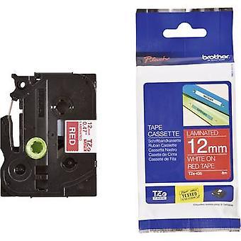 Labelling tape Brother TZe, TZ TZe-435 Tape colour: Red Font colour:White 12 mm 8 m