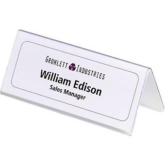 Durable 8050-19 Desk name plate Paper size=150 x 61/122 mm (W x H) 25 pcs/pack.