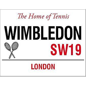 Wimbledon Tennis rua grande Metal assinar 400 X 300 Mm