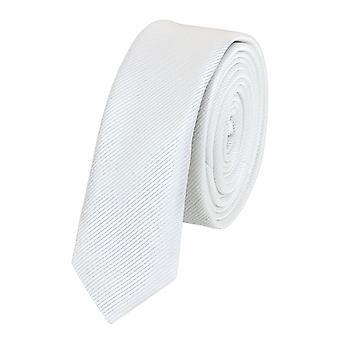 Nouer la cravate cravate cravate 3cm blanc uni Fabio Farini