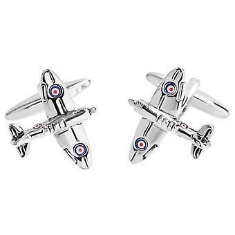 Zennor Spitfire Manchetknopen - zilver/Navy/rood