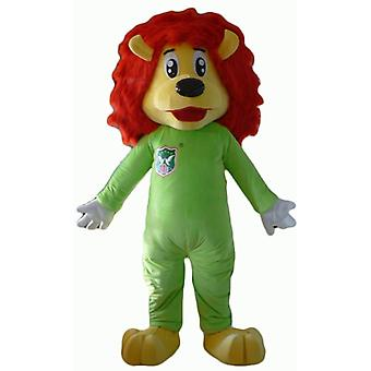 mascot lion yellow and red, with a green combination SPOTSOUND