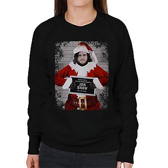 Christmas Mugshot Jon Snow Women's Sweatshirt