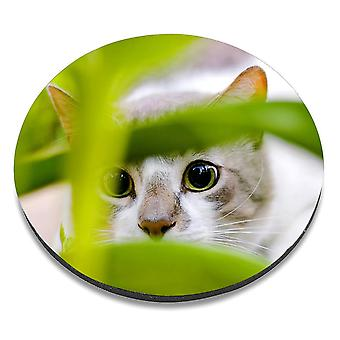 i-Tronixs - Cat Printed Design Non-Slip Round Mouse Mat for Office / Home / Gaming - 10