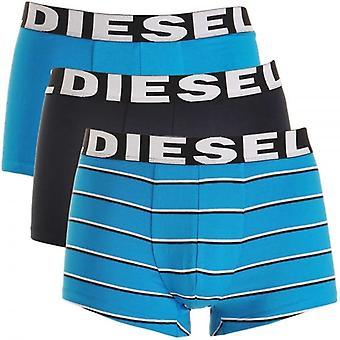 Diesel 3-Pack Boxer Trunk UMBX-Shawn, Blue / Black / Blue Stripe, Large