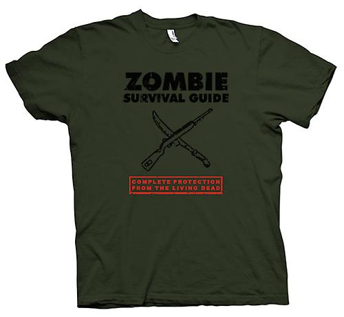 Mens T-shirt - Zombie Survival Living Dead - Funny
