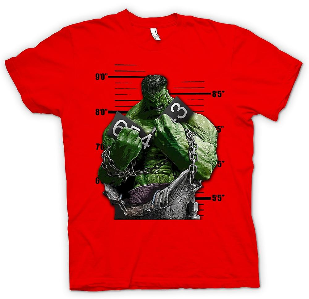 Heren T-shirt-de Hulk - Cartoon - kettingen