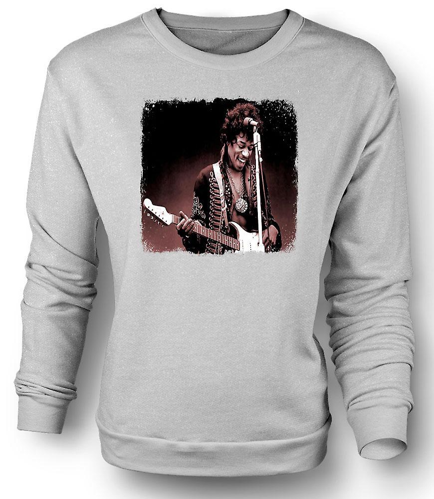 Mens Sweatshirt Jimi Hendrix - Sepia - Portrait