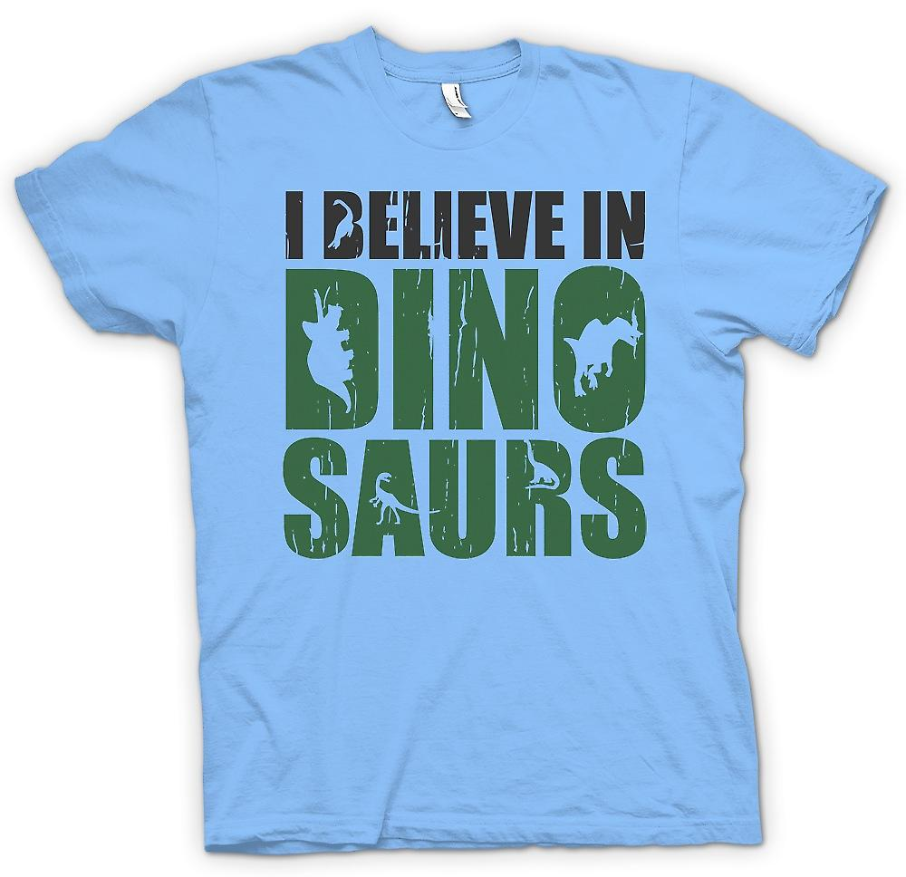 Mens T-shirt - I Believe in Dinosaurs - Cool