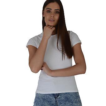 Lovemystyle klassiska besättningen hals T-Shirt i vitt