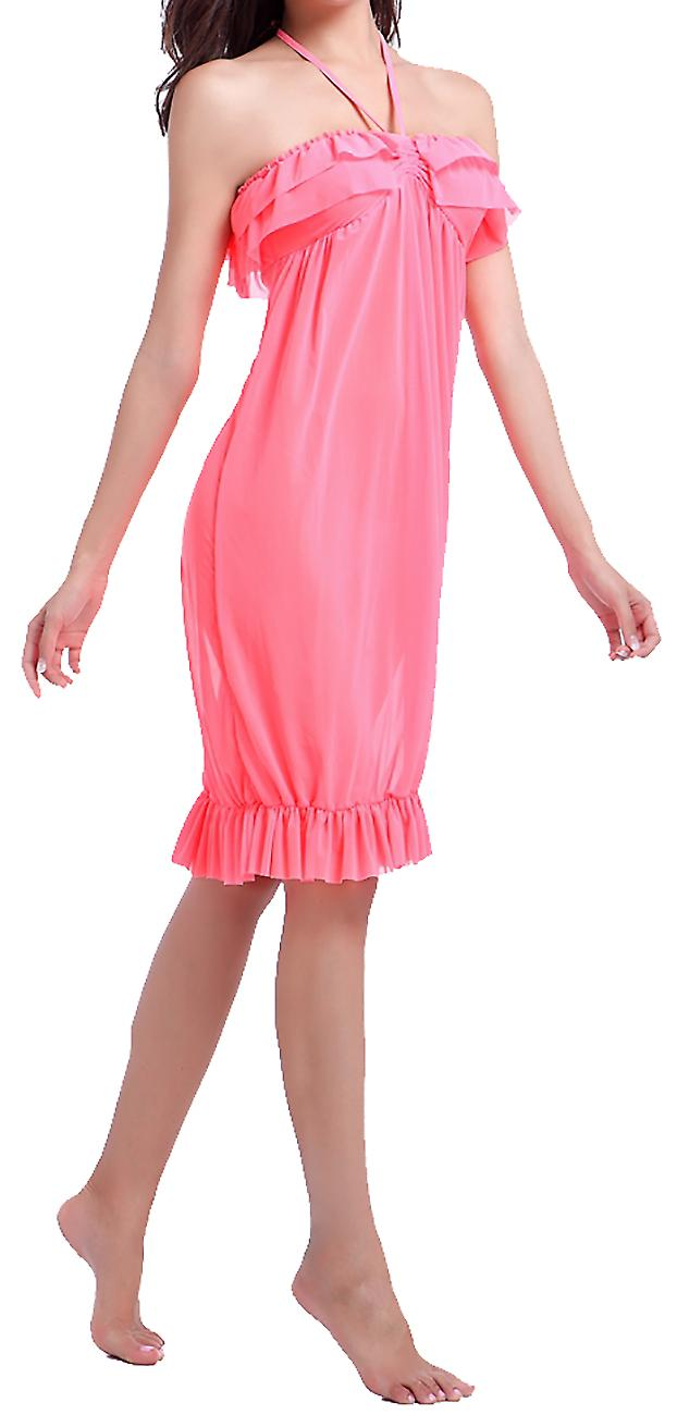 Waooh - Beach Dress With Ruffles Faroula
