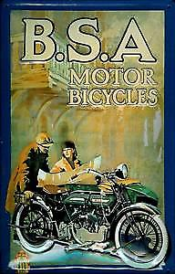 BSA Vintage Motorcycle embossed metal sign  (hi 2030)