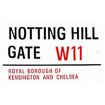 Notting Hill Gate large enamel steel sign   (gg)