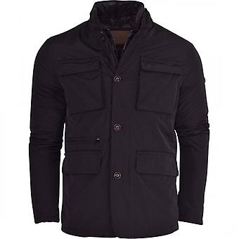 One Minute Mens Field Jacket Stand Up Collar Without Hood, Hoodless Outdoor Hunter Coat