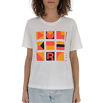 T-shirt de algodão Reebok laranja/branco