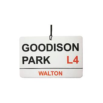 Everton / Goodison Park Street Sign Car Air Freshener