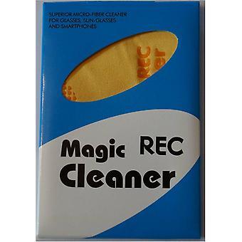 Panno in microfibra Pulitore magico per fotocamere, obiettivi, filtri, occhiali, Display, telefono Mobile e Tablet, CD/DVD/Blu-Ray, display, 20x20 cm giallo