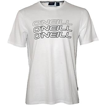 O'Neill trippel logotyp Crew-Neck T-Shirt, Super White