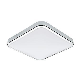 Eglo-Manilva 1 LED Chrome luz de tecto quadrado EG96229
