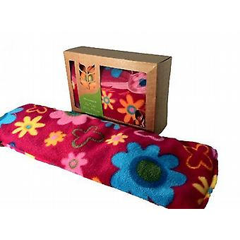 Deluxe Fleece Daisy Soothing Lavender Wheat Bag: Cerise
