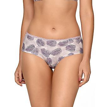 Nipplex Women's Rachel Purple Floral Lace Knicker Shorties Boyshort