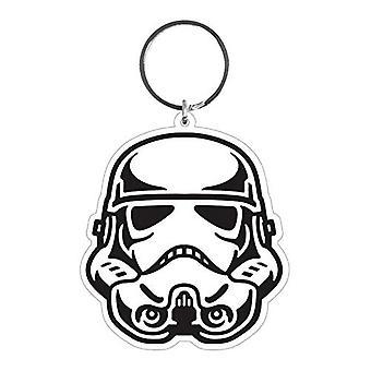 Star Wars Stormtrooper Helmet Rubber Keyring