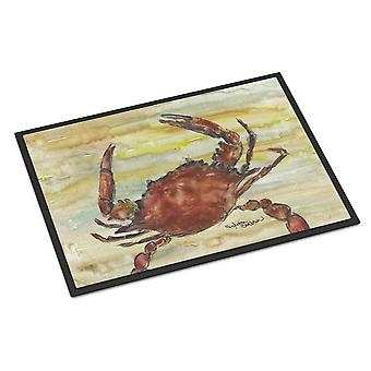 Cooked Crab Yellow Sky Indoor or Outdoor Mat 18x27